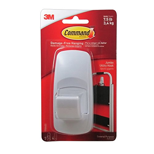 Command Jumbo Adhesive Hook (Pack of 4) (Hold Down Strips)