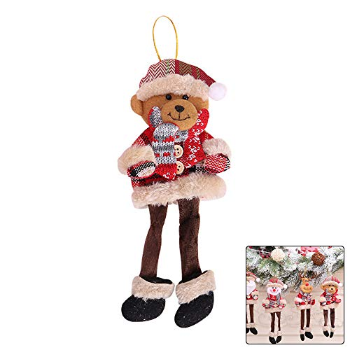 Ebeauty Christmas Trees Hanging Toy Long-Legged Bear Hanging Doll Toy Xmas Trees Hanging Ornaments Home Decoration