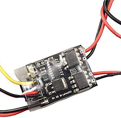 SNOWINSPRING 1.8AX2 Dual Bidirectional Brushed ESC 2S Lipo ESC Speed Controller for 1:35 DIY 4WD Cars//Tanks//Boats Spare Parts