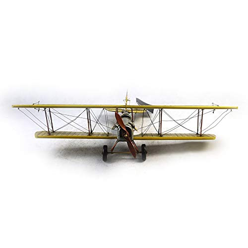 VJUKUBWINE Antique World War I Yellow Curtis Jane Plane - Fine Edition Model Tinplate Hand Made Retro Iron Art Home Car Decoration Decoration Arrangement Photography Props 6846.516cm by VJUKUBWINE (Image #6)