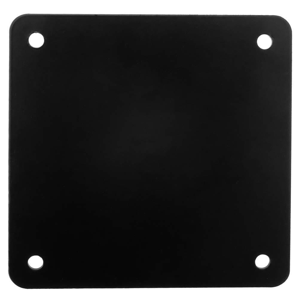 Patas en Acero Negras de 72-75 cm 4-Pack PrimeMatik Pies Redondos para Mesa y Mueble