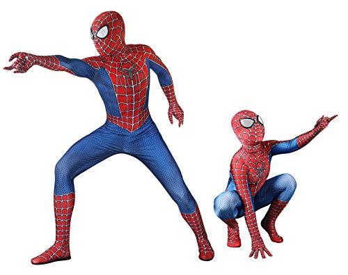 Kid Superhero Full Body Suit Spandex Zentai Sam Raimi Spiderman Costume,M