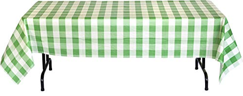 (Havercamp Green and White Plaid Table Cover | 54