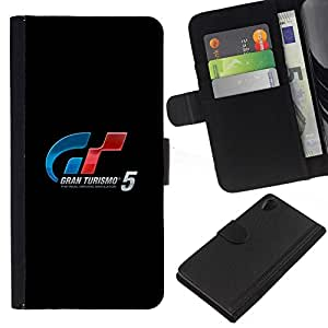 All Phone Most Case / Oferta Especial Cáscara Funda de cuero Monedero Cubierta de proteccion Caso / Wallet Case for Sony Xperia Z2 D6502 // GRAN TURISM GAMING RACING