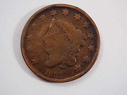 1833 P Coronet Large Cent Large Cents Ungraded