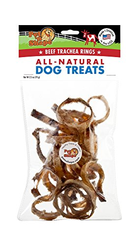 Pet N Shape - Made In Usa - Beef Trachea Snack Bag All Natural Dog Treats, Rings, 2.5-Ounce