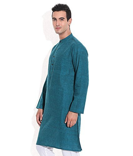 Royal Kurta Men's Summer Wear Fine Cotton Blended Straight Kurta 44 Multi-ColouRed