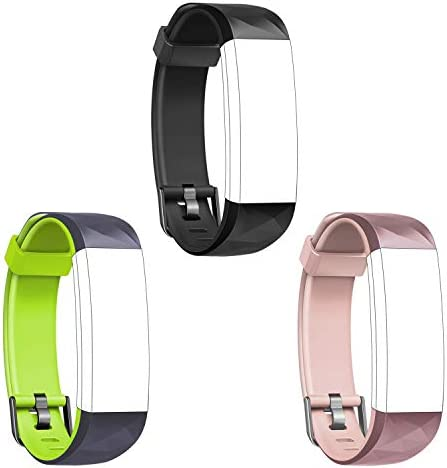 Letsfit Replacement Bands for ID131Color HR, Adjustable Bands Straps Fitness Tracker ID131Color HR, Accessory Bands, 3 Pack Black, Green, Pink