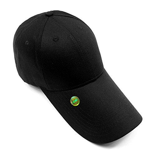 LOCOMO Men Women Plain Black Super Extra Long Bill Snapback Cap (Long Bill Cap)