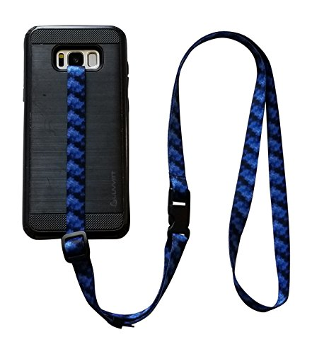 foneleash 3 in 1 Universal Cell Phone Lanyard Neck Wrist and Hand Strap Tether (BLUE SWIRL) by Foneleash