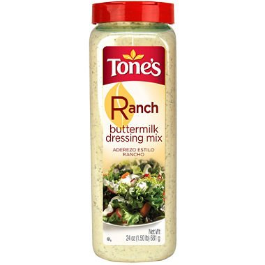 Tone's Buttermilk Ranch Dressing Mix - 24 oz. Large
