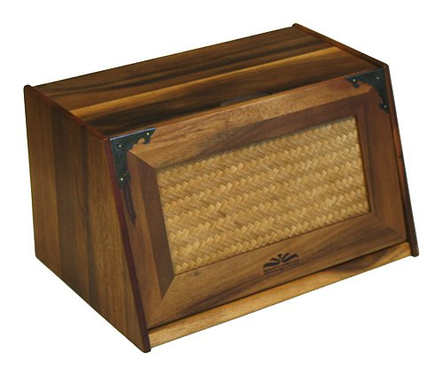Mountain Woods Extra Large Acacia Wood Antique Style Bread Box ACBBR