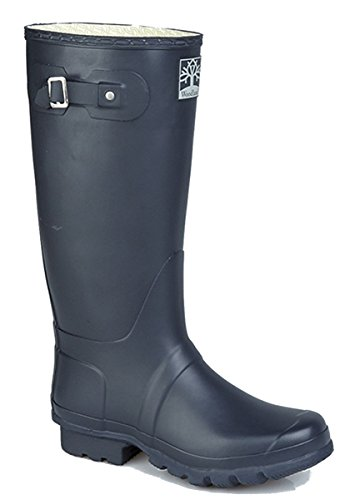 Mens Womens Woodland Wellington Boots WIDE FIT NAVY BLUE Size 7 b38Hjj