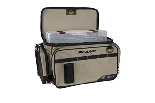 Plano PLAB37111 Weekend Series 3700 Size Tackle Case, Tan, Premium Tackle Storage
