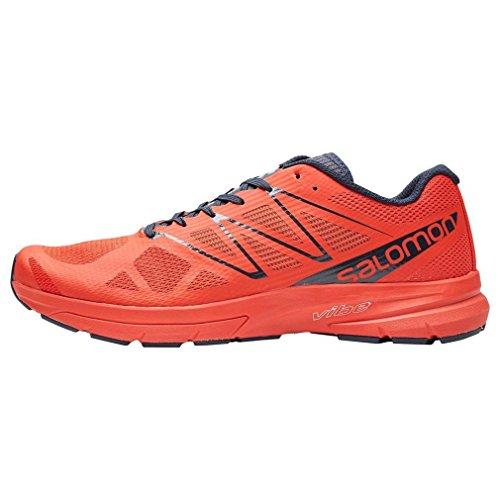 Salomon Sonic Pro 2, Zapatillas de Trail Running para Hombre Rojo (Fiery Red/Navy Blazer/Navy Blazer)