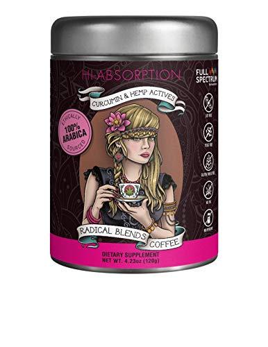 Radical blends coffee curcumin & hemp actives dietary supplement 4.23 oz (120 - 4.23 Ounce Liquid