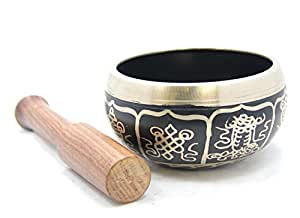 Exquisite 4 Inch Tibetan Singing Bowl Made in Nepal with Wooden Striker