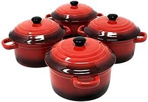 ToCi - Cacerolas con tapa | Mini cazuelas de horno de cerámica 300 ...