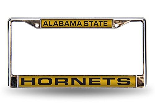 Alabama State Hornets Laser Cut Inlaid Standard License Plate Frame, 6