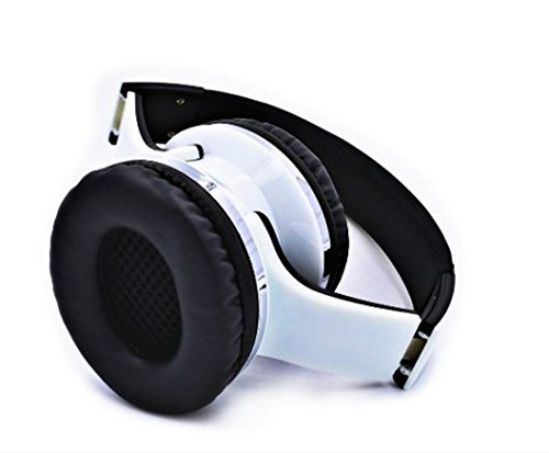 YULAN-New head-mounted Bluetooth speakers + Bluetooth headset combo speakers.(White): Amazon.co.uk: Hi-Fi & Speakers