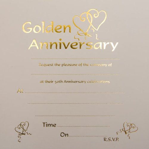 Golden wedding anniversary invitations amazon kitchen home golden wedding anniversary invitations stopboris Images