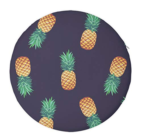 Lightweight & Portable Memory Foam Seat Cushion Pad Indoor Outdoor Seat Chair Pad, Office Chair Car Seat Cushion for Lumbar Support/Backrest (Pineapple Pattern) ()