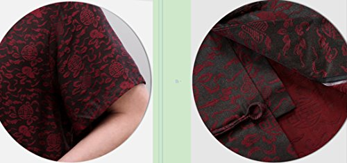 High-end Business Shirts Tang Suit Casual Shirts Chinese National Style Mulberry Silk by JIANYUAN-Tang Suit (Image #7)