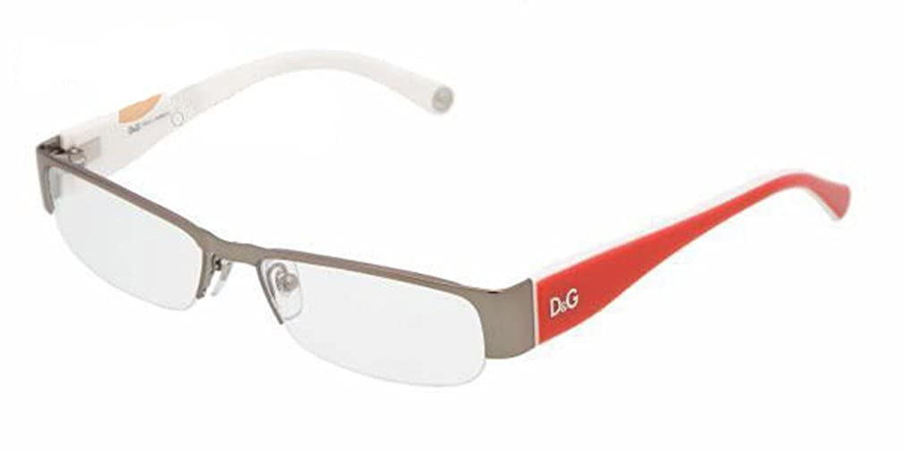 9bf383f3f6b1 Amazon.com: D&g By Dolce & Gabbana Women's 5080 Gunmetal / Red Frame Metal  Eyeglasses, 50mm: Clothing