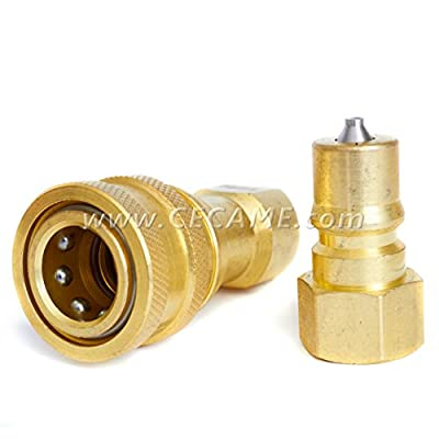 """1/4"""" Quick Disconnect Coupler Valve For Carpet Cleaning Wand Truckmount QD"""