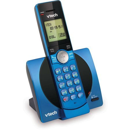 VTech CS6919-15 DECT 6.0 Expandable Cordless Phone with Caller ID and Handset Speakerphone, Blue (Certified Refurbished) (Corded Caller Speakerphone Id)