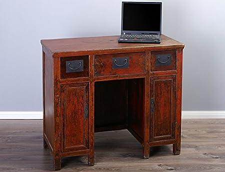 Chino Antiguo Secreter Escritorio Laptop Mesa Mesa antigüedad ...