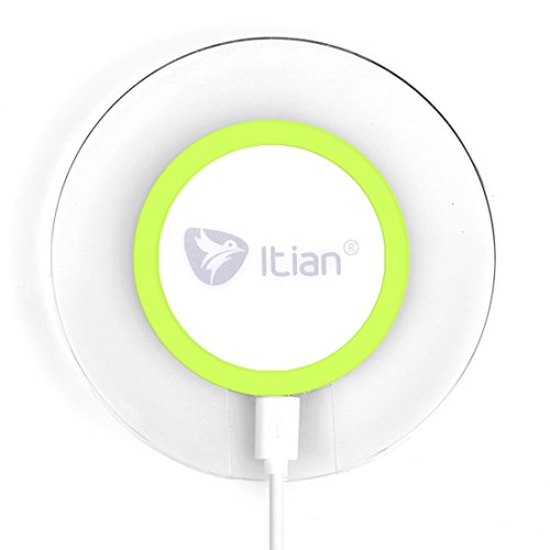 Wireless Charger,Itian Wireless Charging Pad A9 for iPhone 8 iPhone 8 Plus iPhone X Samsung Note8 S8 S8+ S7 S7 Edge S6 S6 Edge Note5 S6 Edge Plus(NO AC Adapter)-Green