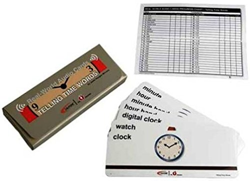 Califone MCFTT Telling Time, Provides vocal mirroring capabilities when used with a CardMaster Card Reader, Card is selected and played through the CardMaster (Cardmaster Card Reader)
