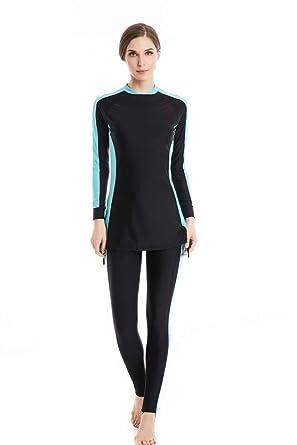 d043578f6faa7 nadamuSun Modest Muslim Swimwear Islamic Swimsuit for Women Hijab Swimwear  Full Coverage Swimwear Muslim Swimming Beachwear Swim Suit: Amazon.co.uk:  ...