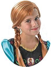 شعر مستعار من روبيز لمحاكاة الشخصية الرسمية لانا من فيلم فروزن من شركة ديزني، مصمم للاطفال - مقاس واحد (بني 36172)