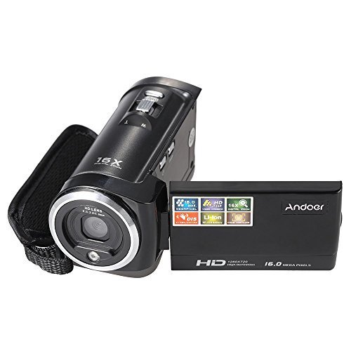 Andoer HDV-107 Digital Video Camcorder Camera HD 720P 16MP DVR 2.7'' TFT LCD Screen 16x ZOOM [並行輸入品]   B07555PGV5