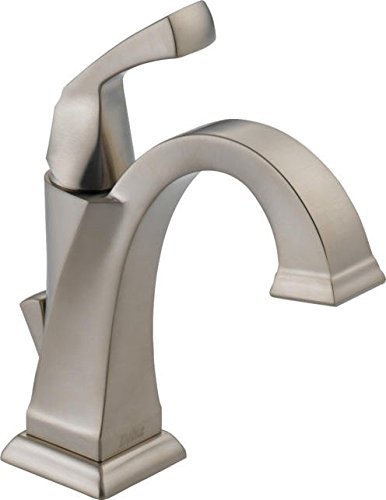 Delta Faucet Dryden Single-Handle Bathroom Faucet with Diamond Seal Technology and Metal Drain Assembly, Stainless 551-SS-DST