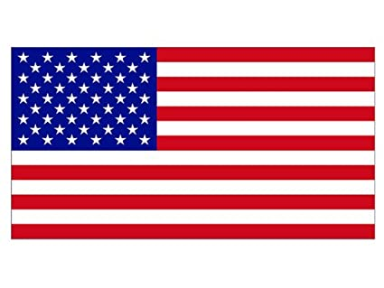 American flag large bumper sticker