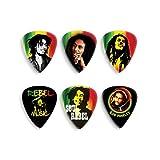 PUAS ESTUCHE - Dunlop (BOBPT24) Bob Marley (Caja de Laton 12 Puas diferentes) Calibre 1