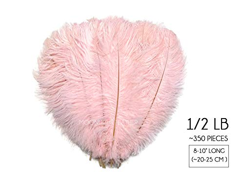 1/2 Lb - 8-10'' Baby Pink Wholesale Ostrich Drab Feathers (Bulk) Party Centerpiece Wedding Gatsby | Moonlight Feather by Moonlight Feather | USA SELLER (Image #6)