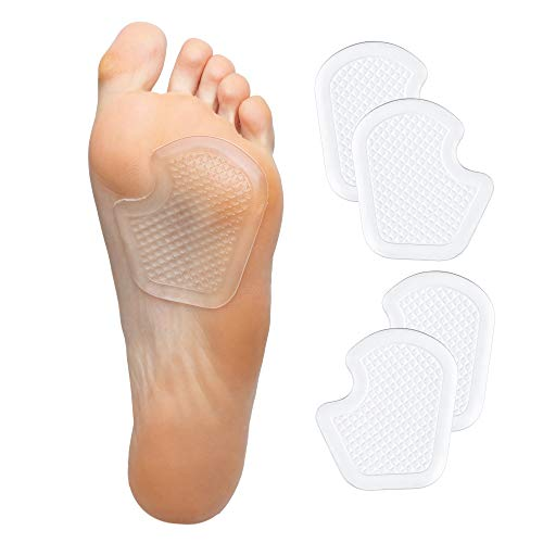 ZenToes Dancer Pads 4 Count Gel Cushions Protect and Relieve Metatarsal, Sesamoid, Ball of Foot Pain - 2 Pairs