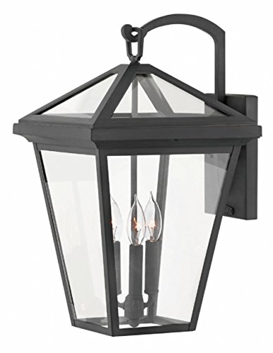Hinkley 2565MB Alford Place Outdoor Wall Sconce, 3-Light, 180 Total Watts, Museum Black ()