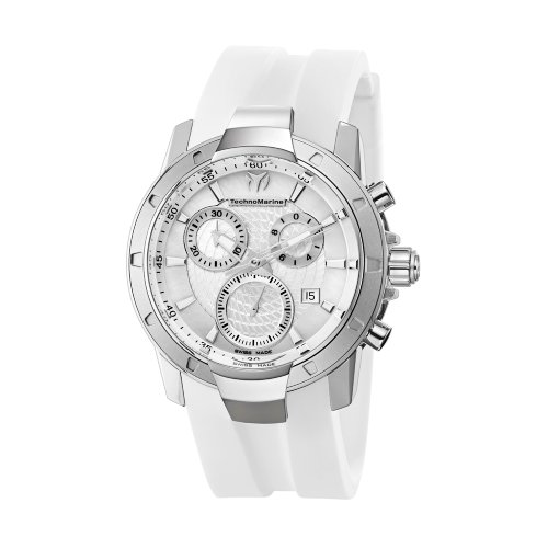 TechnoMarine Unisex 610003 UF6 Chronograph White MOP Dial (Ladies Diamond White Mop Dial)