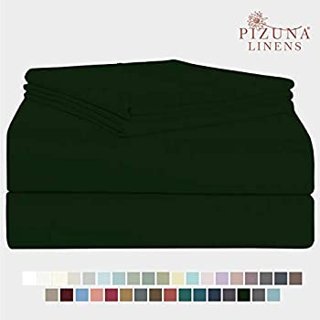 Pizuna 400 Thread Count Cotton King Size Sheet Set Green Pastures, 100% Long Staple Cotton Soft Sateen Bed Sheets fits Upto 15 inch Deep Pockets (100% Cotton Green Pastures Sheets King)