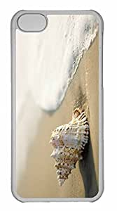 iPhone 5C Case, Personalized Custom Whelk Shell 3 for iPhone 5C PC Clear Case by lolosakes