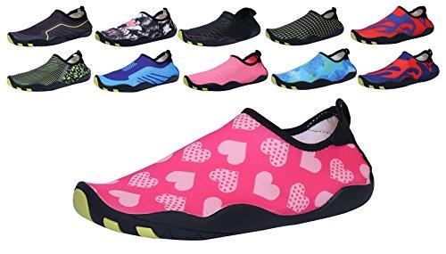 Sami Studio Hommes Et Chaussures De Leau Des Femmes Léger Durable Rôle Aqua Chaussures Convient À La Conduite De La Natation Canotage Yoga Plage Surf Dotspink