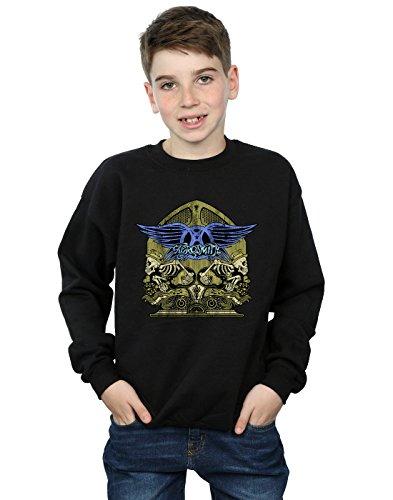 - Aerosmith Boys Guitar Skeletons Sweatshirt Black 9-11 Years