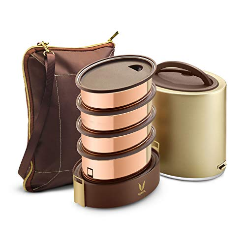 Copper-plated stainless steel lunch Box
