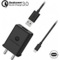 Motorola Plastic TurboPower 15+ Wall Charger with USB-C Data Cable