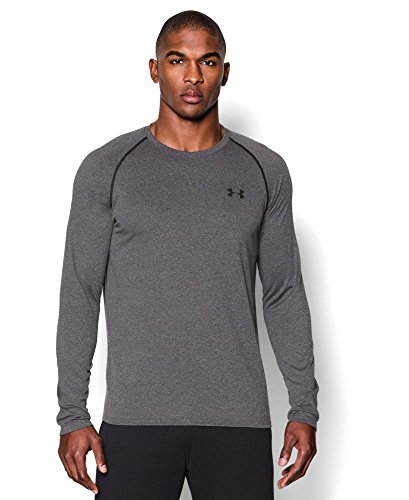 Under Armour Men's Tech Long Sleeve T-Shirt, Carbon Heather (090), Small